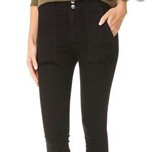 Rag and Bone Denny Frayed Hem Jeans Black Coal